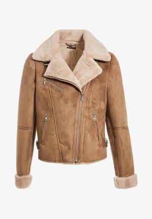 ZWANGS SPIRIT - Leather jacket - taupe