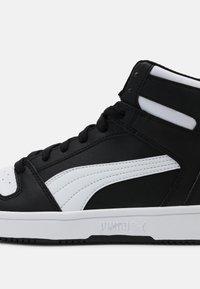 Puma - REBOUND LAYUP UNISEX - High-top trainers - black/white - 4