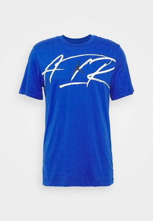 SCRIPT AIR CREW - Print T-shirt - game royal/black/white