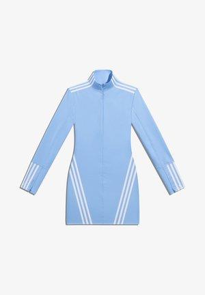 IVY PARK 1/2 ZIP LATEX DRESS - Robe d'été - light blue/white