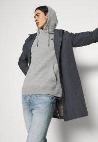 Anerkjendt - AKNIGEL ORGANIC HOODIE - Sweatshirt - light grey melange - 3