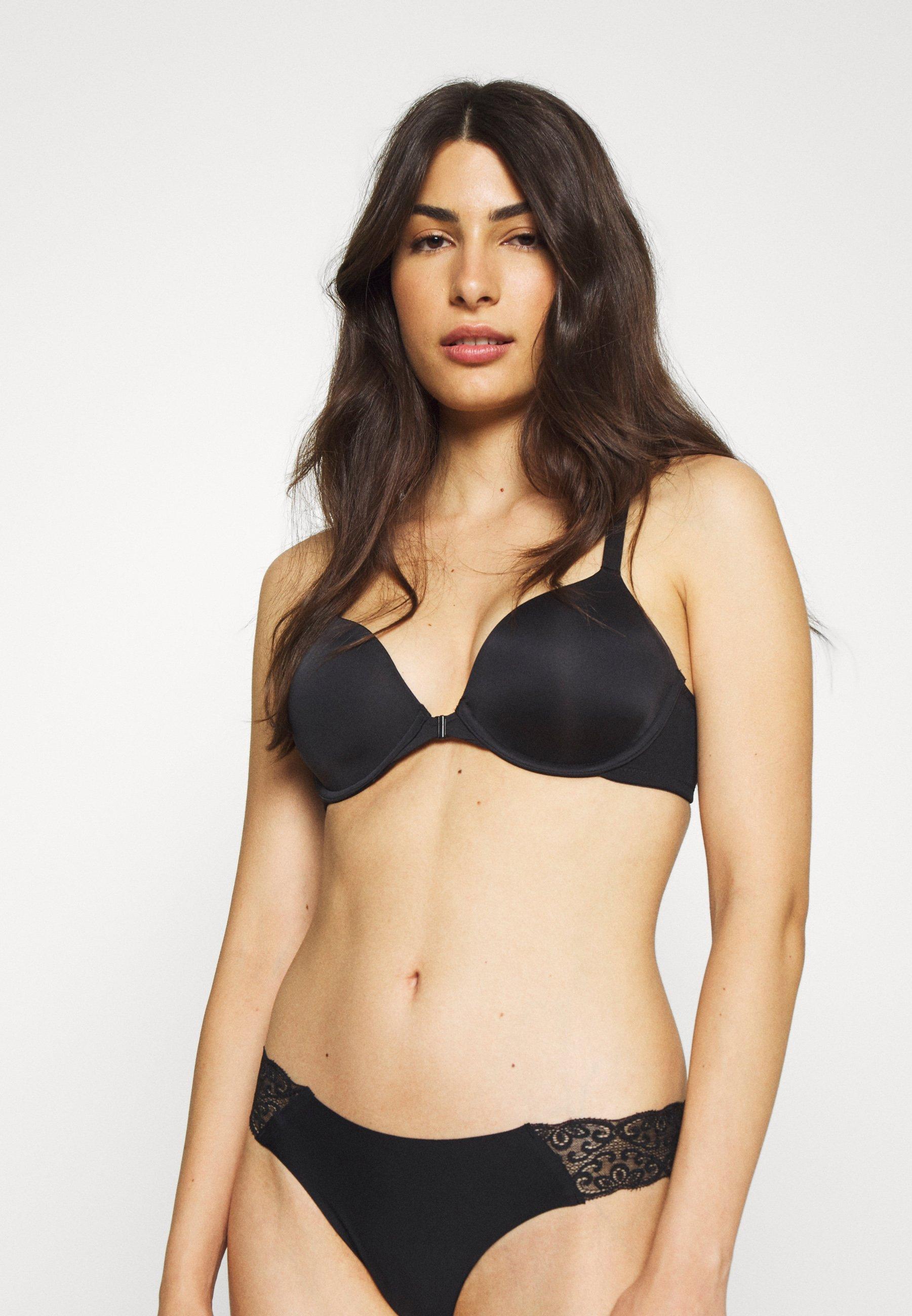 Women MODERN OPEN NECKLINE DEMI RACERBACK NO SHOW BRA FRONT  - T-shirt bra
