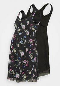 Anna Field MAMA - 2 PACK - Žerzejové šaty - black/multicoloured - 0