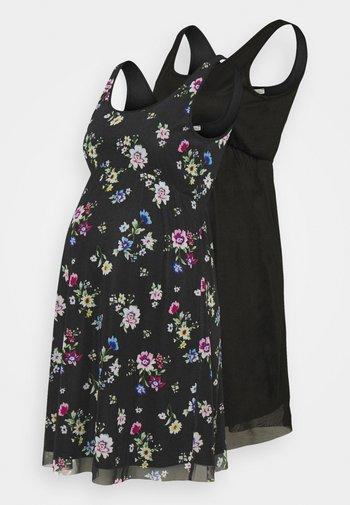 2 PACK - Jerseykjole - black/multicoloured