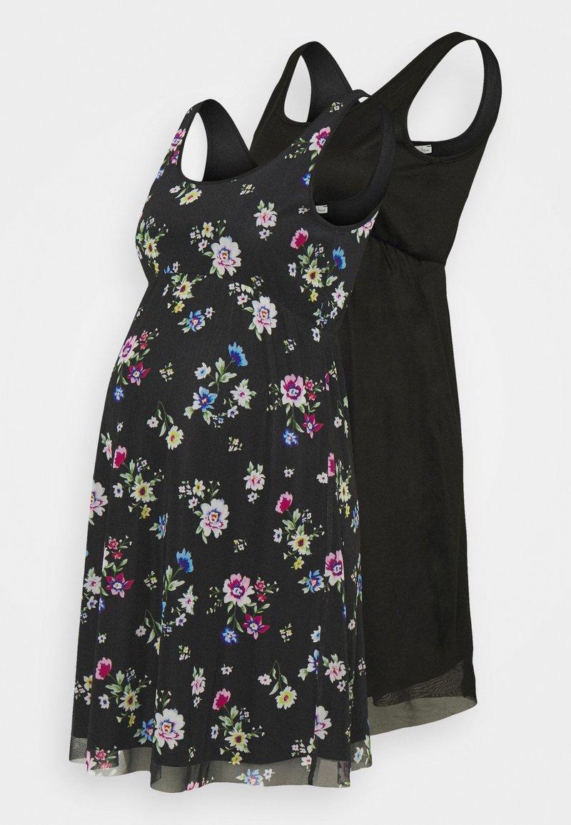 Anna Field MAMA - 2 PACK - Žerzejové šaty - black/multicoloured