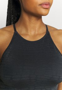 Casall - SHINY ALLIGATOR SEAMLESS STRAP TANK - Top - shadow grey - 3