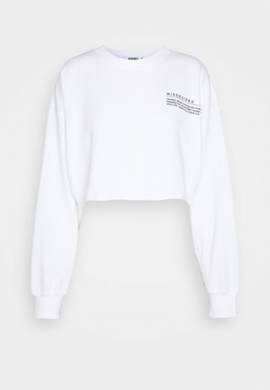 CROPPED RAW HEM - Sweatshirt - white