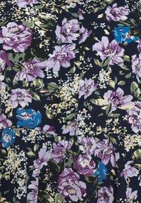 JDY - JDYPIPER  - Skjortekjole - black iris/purple/parisian blue - 5