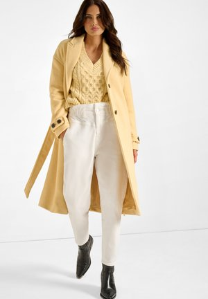 Classic coat - pale yellow