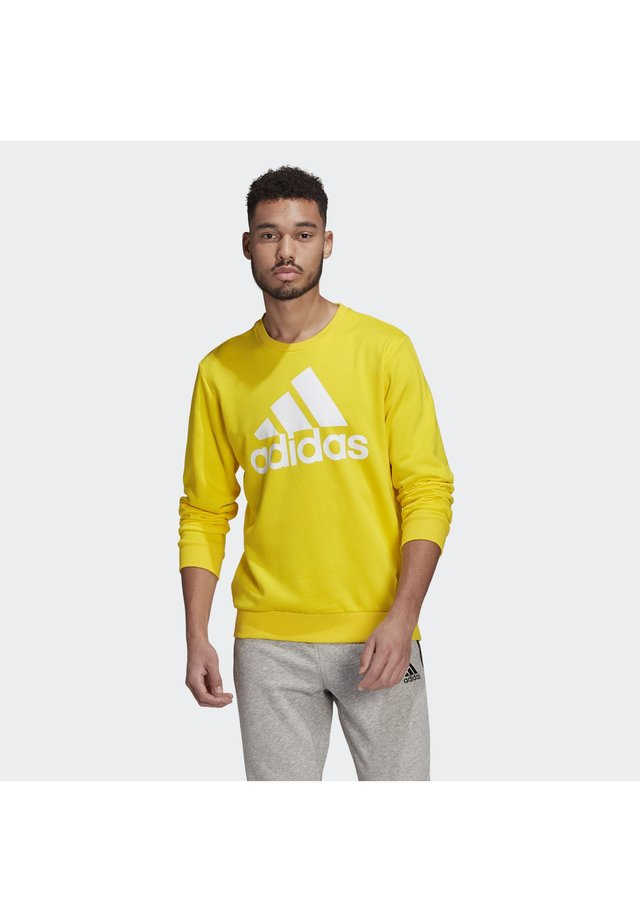 Sweatshirt - yellow/white
