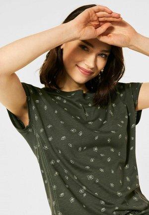 MIT MINIMAL PRINT - Print T-shirt - grün