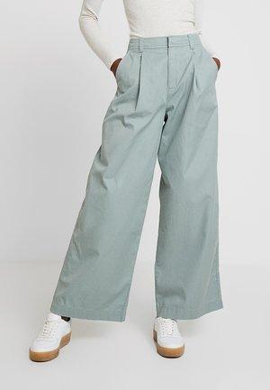 HI-RISE PLEATED  - Trousers - sage