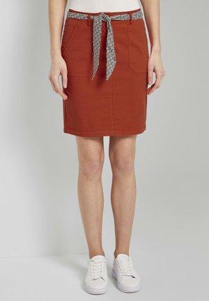 Pencil skirt - strong flame orange