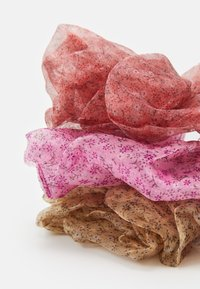 Pieces - PCVICTORIA BIG SCRUNCHIE 3 PACK - Hair Styling Accessory - copper brown - 1