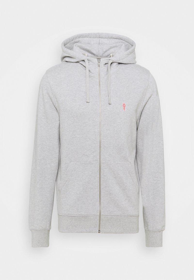 REVOLUTION - ZIP HOODY - Zip-up hoodie - grey melange