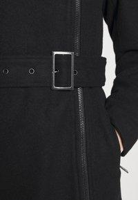 ONLY - ONLOLIVIA LONG BIKER COAT - Zimní kabát - black - 7