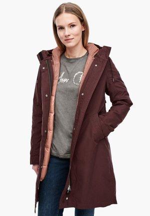 Winter coat - dark ruby