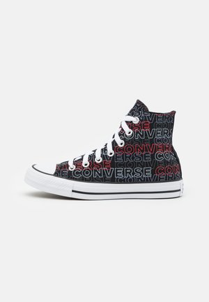 CHUCK TAYLOR ALL STAR WORDMARK PRINT UNISEX - High-top trainers - black/university red/white