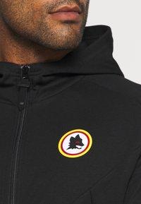 New Balance - AS ROMA TRAVEL ZIP THRU HOODY - Club wear - black - 5