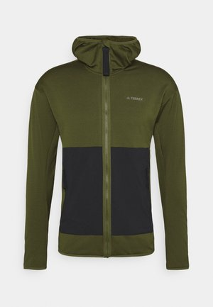 TERREX TECH LITE HOODED HIKING FLEECEJACKE - Fleece jacket - wild pine/black