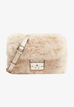 REAGAN KUNSTFELL - Across body bag - beige