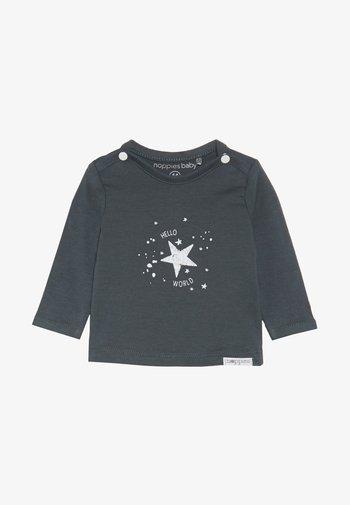 TEE LUX TEKST - Pitkähihainen paita - dark grey