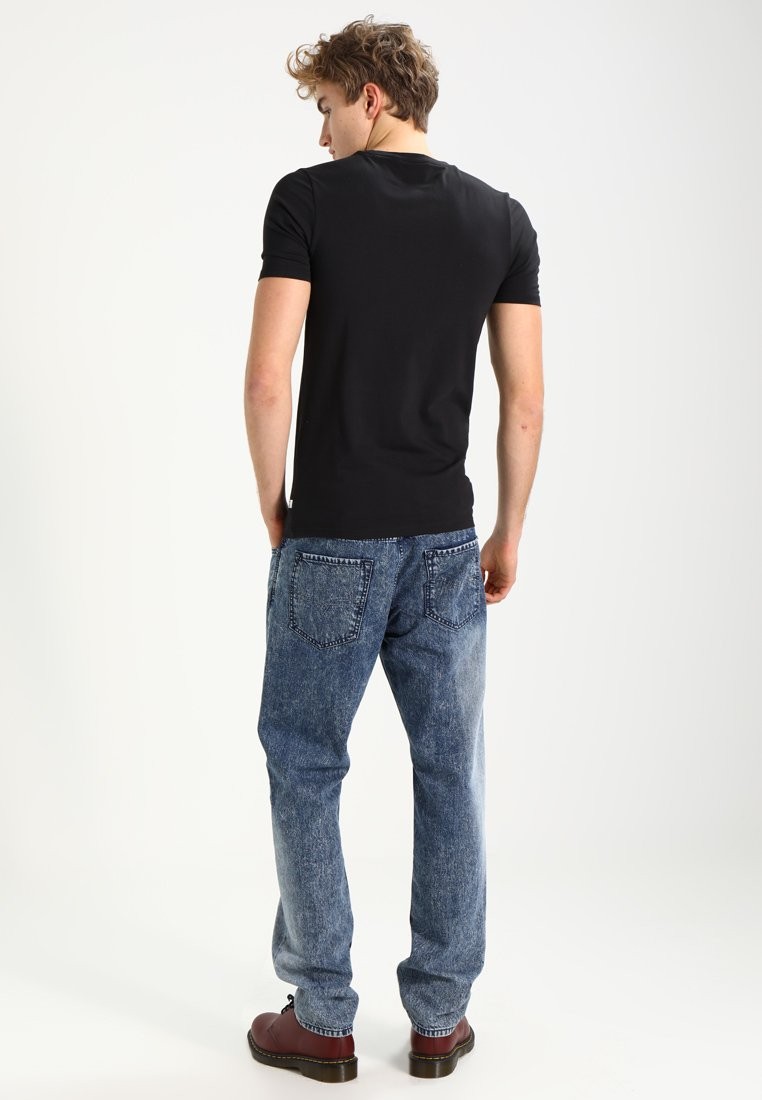 Only & Sons ONSBASIC SLIM V-NECK - Basic T-shirt - black Kbm3R