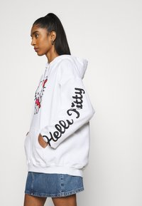 NEW girl ORDER - LOGO HOODY - Sweatshirt - white - 4