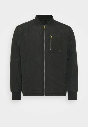 QUILTED CONTRAST JACKET - Jas - black