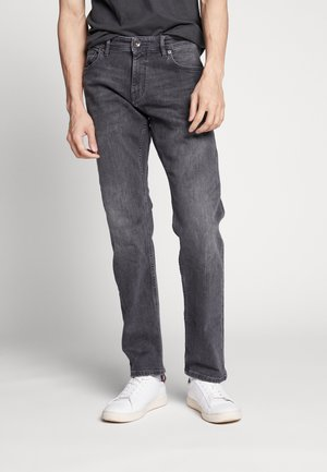 Jean droit - black medium wash