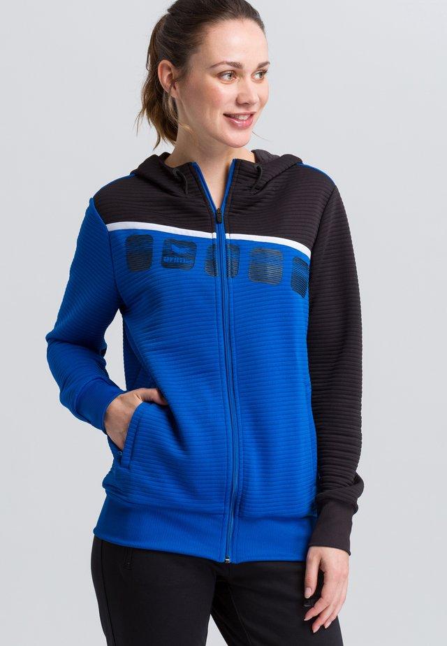 Zip-up hoodie - blue/black