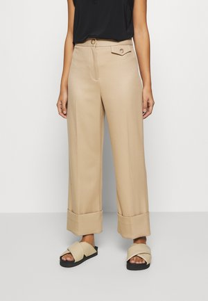 ASTEN WIDE - Trousers - camel