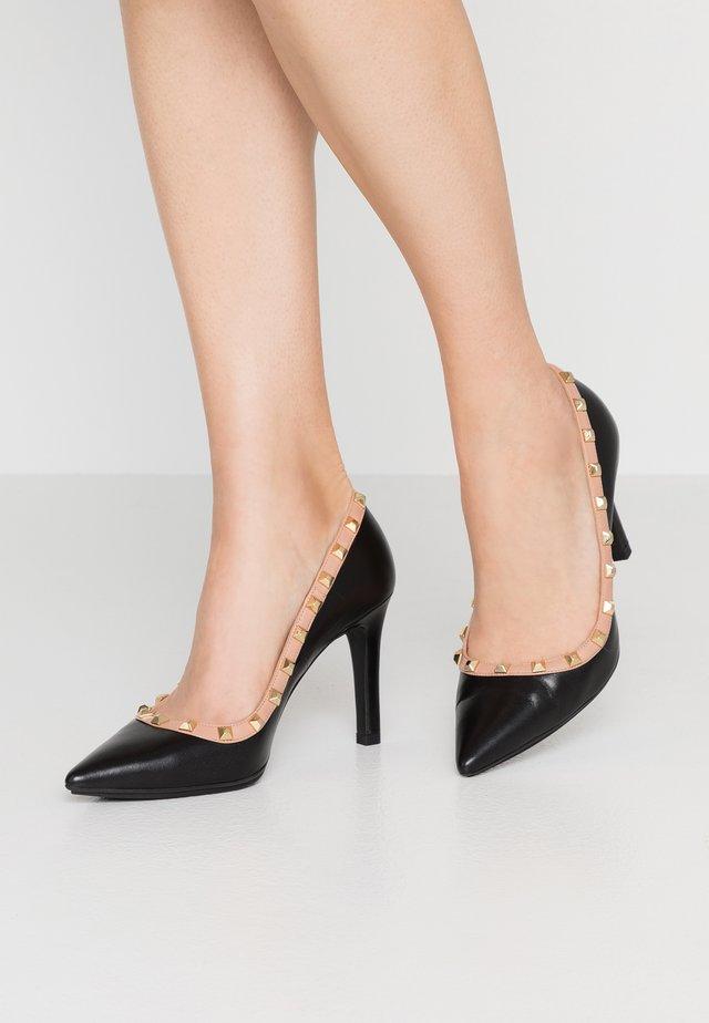RUGO - High heels - glove nero/glove blush/oro
