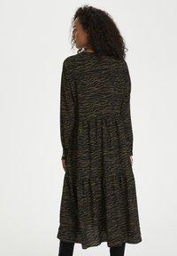 Kaffe - KAKIRALA - Shirt dress - dark green zebra print - 2