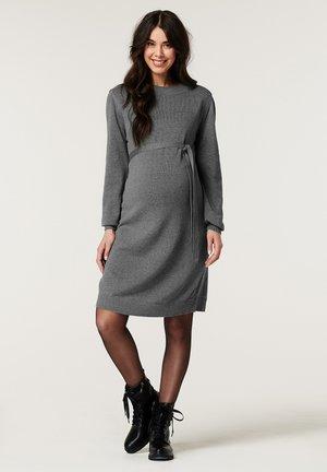 Gebreide jurk - anthracite melange