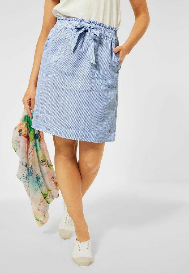 Cecil - Rock - A-line skirt - blau