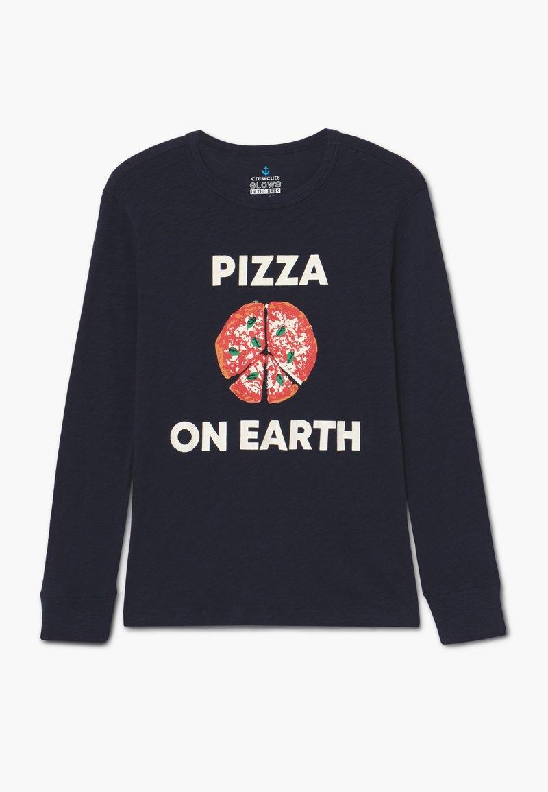 J.CREW - PIZZA ON EARTH - Long sleeved top - dark blue