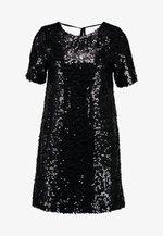 SEQUIN SHIFT DRESS - Robe de soirée - black