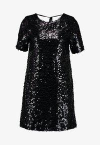 SEQUIN SHIFT DRESS - Koktejlové šaty/ šaty na párty - black