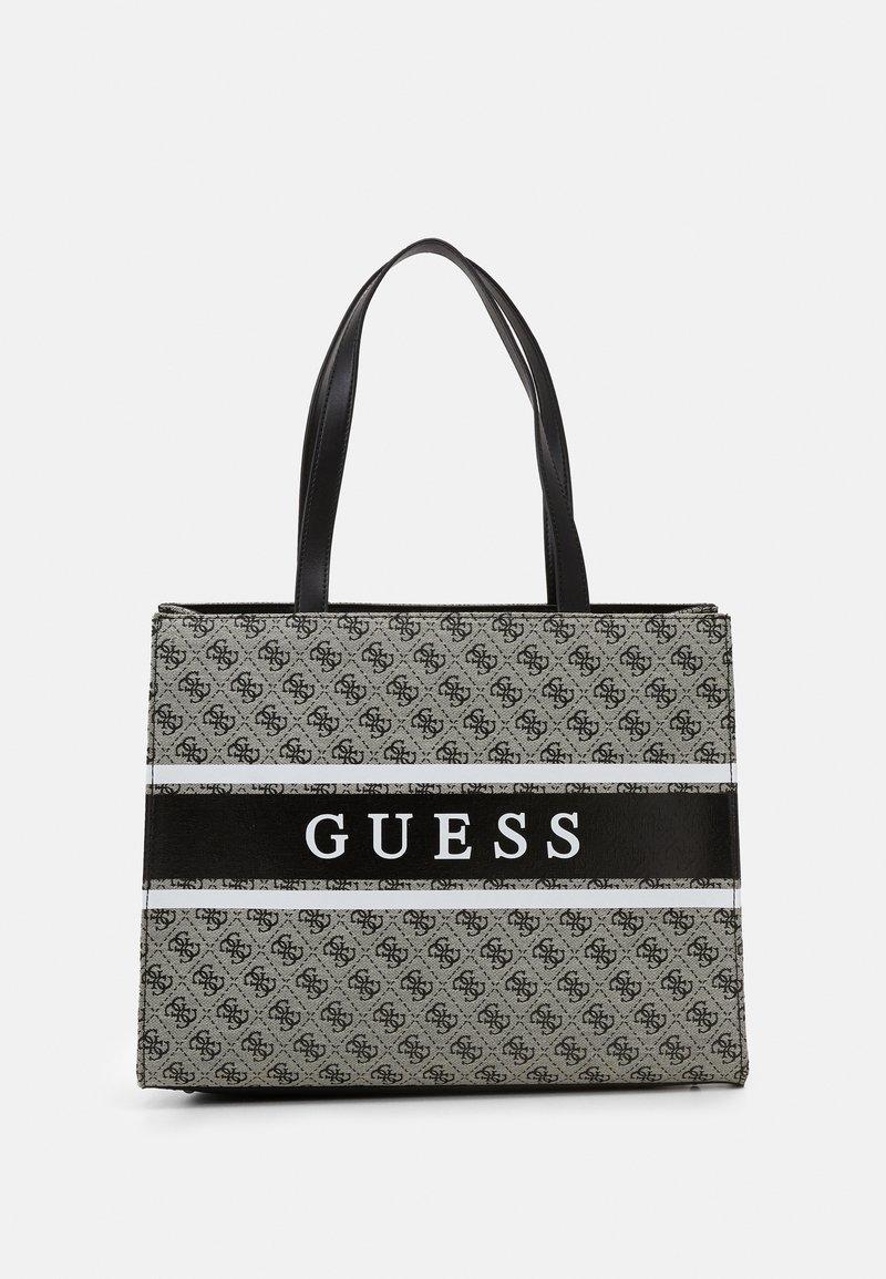 Guess - HANDBAG MONIQUE TOTE - Shopping bag - coal