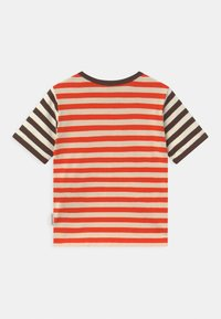 Marimekko - LEUTO TASARAITA UNISEX - T-shirt imprimé - orange red/light beige - 1