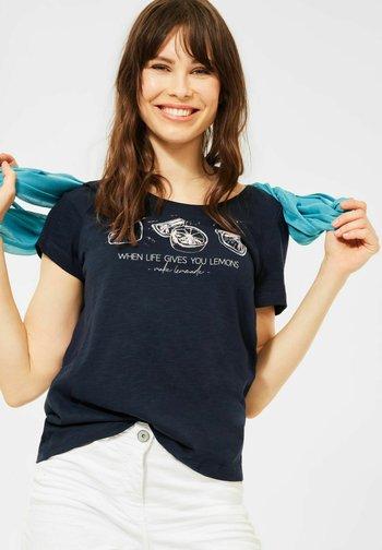 MOTIV - Print T-shirt - blau