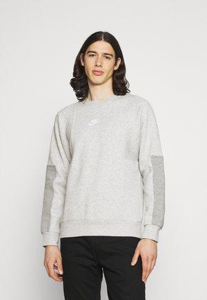 AIR CREW - Sweatshirt - grey heather/dk grey heather/white