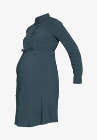 MAMALICIOUS - MLLOUISA DRESS - Jerseyjurk - orion blue - 4