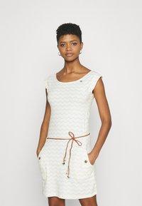 Ragwear - TAG CHEVRON - Žerzejové šaty - off white - 0