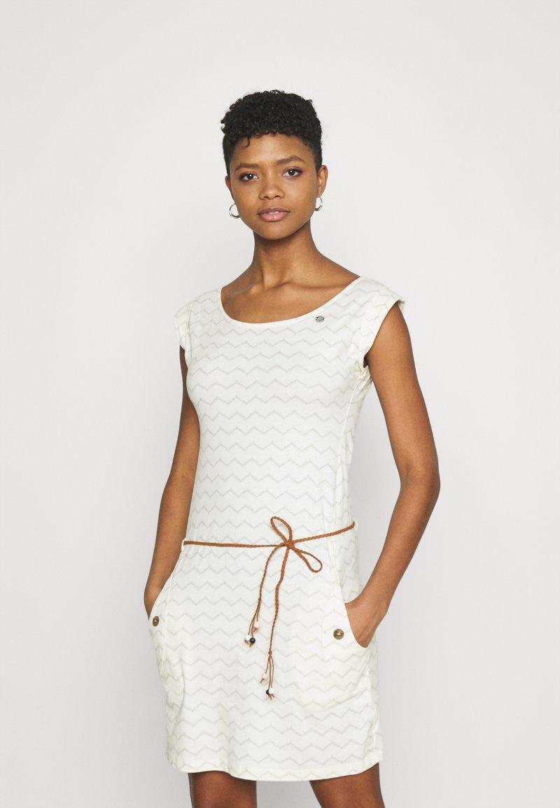 Ragwear - TAG CHEVRON - Žerzejové šaty - off white