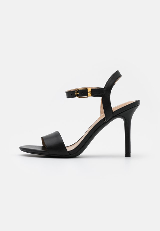 GWEN - High heeled sandals - black