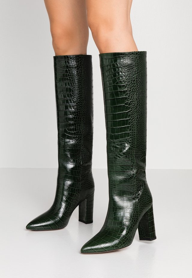 High heeled boots - cocco verde