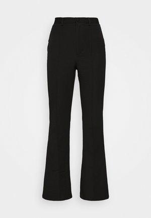 BOWIE FLARE PANT - Bukser - black