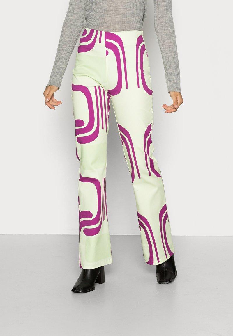 HOSBJERG - DITTE PALOMA PANTS - Spodnie materiałowe - royal fade mint